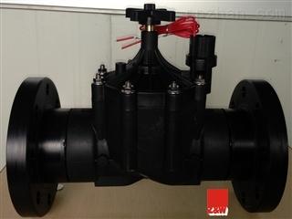 """配套安装法兰3""""交流,直流脉冲塑料灌溉电磁阀图片"""