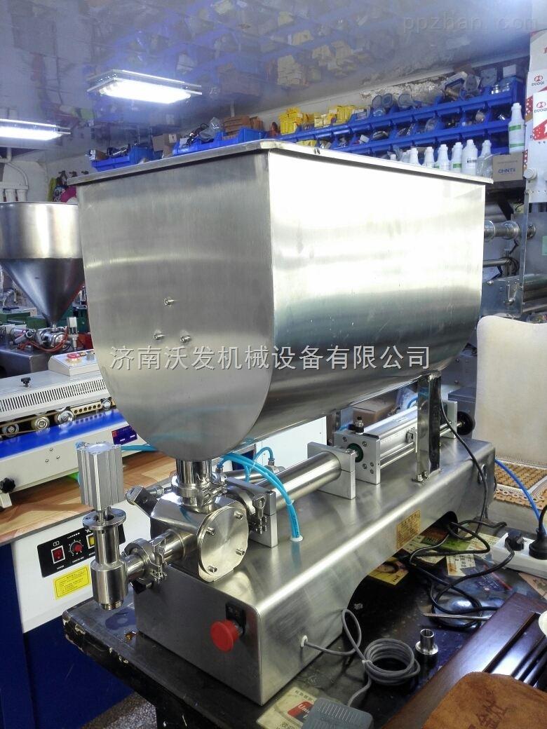 湖南辣椒酱灌装机|500g牛肉酱灌装机生产厂家|济南沃发机械