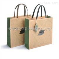 高档创意牛皮纸礼品开窗绿色茶叶袋子定制印刷